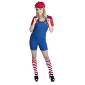 Red Plumber Mates Costume