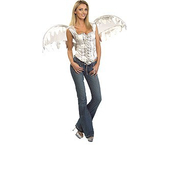 White Angel Corset with Wings