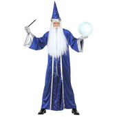 Blue Wizard Costume