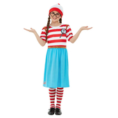 Where's Wally?Deluxe Wenda Costume - Kid's