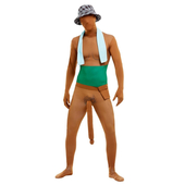 Big Willy Man Costume - Brown