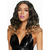 Curly Ombre Long Bob Wig - Brown/Blonde