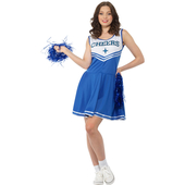 Blue Cheerleader Costume