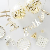 Gold Foiled Decorations - Party in a Box