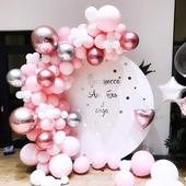 Pink, White And Rose Gold Balloons Garland & Arch Kit - 110 Pcs