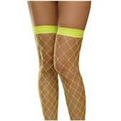 Neon Yellow Large Fishnet Tights