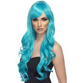 Long Aqua Wig
