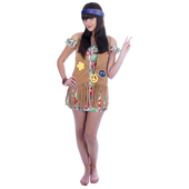 Plus Size Flower Power Girl Costume