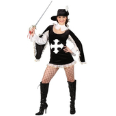 Sexy Musketeer Costume - Black