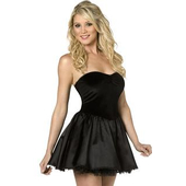 Bijou Mini Dress/slip - Black