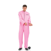 Mens Pink Prisoner Costume
