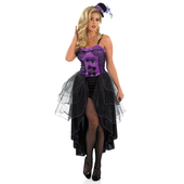 Purple Burlesque Costume