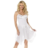 Knee Length White Slip