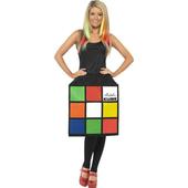 3D Rubik's Cube Ladies Costume