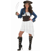 Plus Size Ra Ra Pirate Girl Ladies Costume