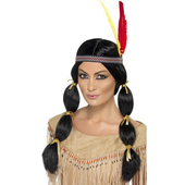 Pigtail Indian Princess Wig
