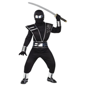 kids Silver Mirror Ninja Fancy Dress