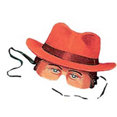 Man With Red Hat Mask