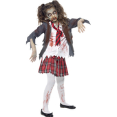 Childs School Girl Zombie Costume