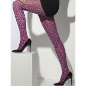 Pink Leopard Print Tights