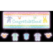 Baby Shower Swirl Decorations - 6 Pack