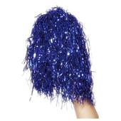 Metallic Pom Poms - Blue