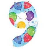 No9 Supershape Foil Balloon - 35""