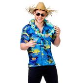 Hawaiian Shirt - Blue Palm Trees