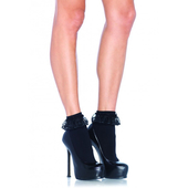 Black Anklet Socks With Ruffle