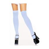 Nylon Thigh High Stockings - blue