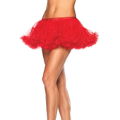 Red Puffy Chiffon Mini Petticoat