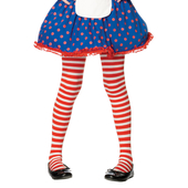 Girl Stripe Tights Red/White