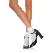 Satin Cuff Anklets - White