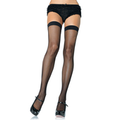Nylon Fishnet Stockings - Black