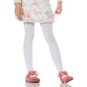 Girls Opaque Tights - White