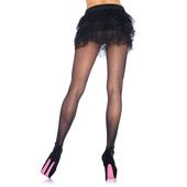 Black Sheer Pantyhose With Rhinestones Backseam