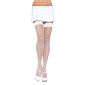 Nylon Fishnet Stockings - White