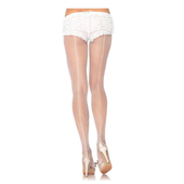 Fishnet Backseam Pantyhose - White