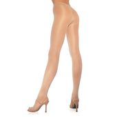 Plus Size OpaqueSheer To Waist Tights WIth Cotton Crotch PLUS Nude