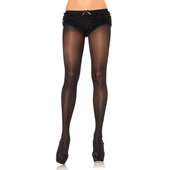 Plus Size OpaqueSheer To Waist Tights WIth Cotton Crotch PLUS SI Black