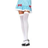 Plus Size Nylon Over The Knee Stockings - White