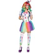 Crazy Colour Clown Costume