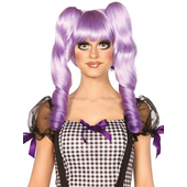 purple dolly bob wig