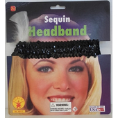 Sequin Headband - Black