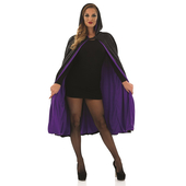 Short Black Purple  Cape