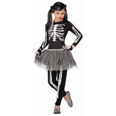 White Skeleton - Tween Costume