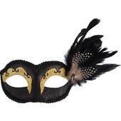 black glitter eye mask