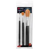 Cosmetic Brush Set - 3 Pack