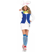 cozy white rabbit costume