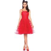 Rockabilly Swing Dress - Red